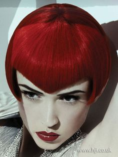 2009 angular fringe hairstyle Hairstyle by: Shane Bennett for Goldwell Hairstyle picture by: Kylie Coutts