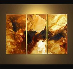 """Modern Abstract Painting, Original Art on Canvas by Osnat - MADE-TO-ORDER - 54""""x36"""""""