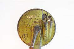 #VogueTeam #EtsyGift #vintage Green Kitchen Tool, Vintage Canning Tool, 1950's PeDe Double Bean Slicer, Green Kitchen Gadget, Cast Iron Kitchen Utensil,