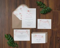 Free downloadable DIY floral invitation suite from One Fab Day and Appleberry Press | www.onefabday.com