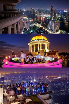 Sirocco Tower Club at Lebua, Bangkok - spectacular views 64 floors above the city