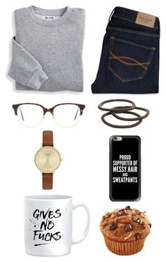 """Untitled #277"" by claregalvan ❤ liked on Polyvore featuring Blair, Abercrombie & Fitch, Casetify, Victoria Beckham, Skagen and Goody"