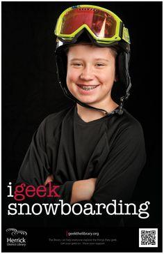 """i geek snowboarding"""
