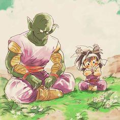 Piccolo and kid Gohan. LOL