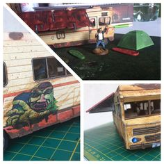 The Walking Dead: All out war | Dale's RV with removable top and full playable interior. A canopy from #battlesystems