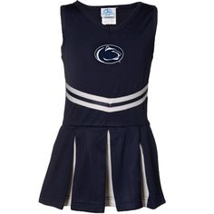 Penn State University Nittany Lions Striped Game Day Dress with Bloomer