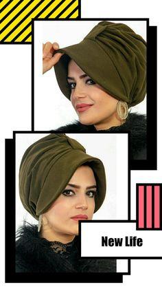 Scarf Hat, Beanie Hats, Hijab Style Tutorial, Turban Hijab, Cute Beanies, Steampunk Hat, Hat Patterns To Sew, Wool Berets, Pink Hat