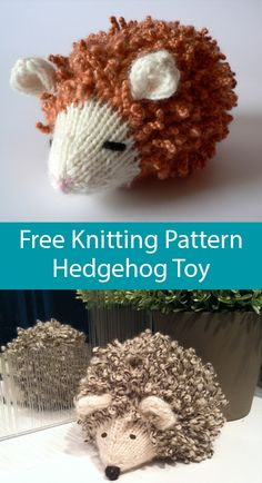 KNITTING Pattern Xmas hedgehog toy knitting pattern 30cm tall