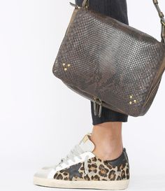 GOLDEN GOOSE - Sneakers Superstar Snow Leopard Black Star