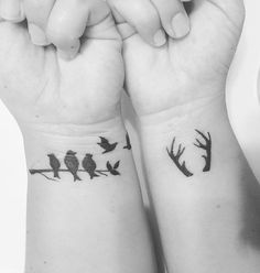 Pin for Later: 25 Meaningful — and Stunning — Miscarriage Tattoo Ideas in Honor of Your Unborn Baby Family of Birds on a Branch and Flying Above Más Tattoo For Son, Tattoos For Kids, Tattoos For Women Small, Trendy Tattoos, Popular Tattoos, Unique Tattoos, Beautiful Tattoos, Parent Tattoos, Baby Tattoos