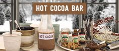 Homemade Hot Cocoa Bar
