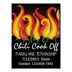 chili cook off decorating ideas | Chili Cook Off Poster - SRF
