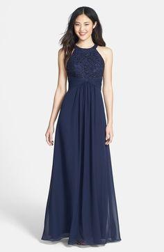 Eliza J Beaded Lace   Chiffon Gown - ShopStyle Evening 49b74b1c7738