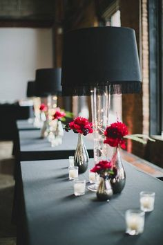 Lampshade Wedding Decor: 40 Unique Examples That Will Grab Your Guests' Attention - Makely Wedding Centerpieces, Wedding Decorations, Wedding Tables, Wedding Candelabra, Centerpiece Ideas, Wedding Reception, Decorative Lamp Shades, Glass Lamp Base, Hanging Lamp Shade