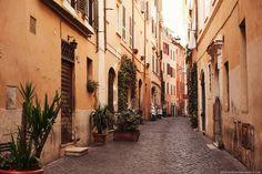 November in Rome. Beautiful architecture colours