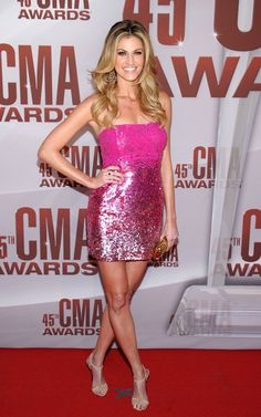Love Erin's Pink sparkly dress at the CMA's!