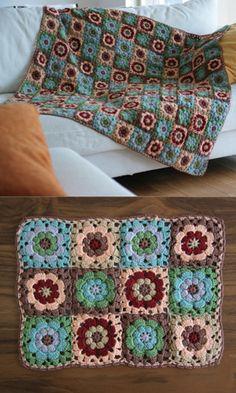 Patterns for crotcheting mats