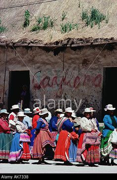 Peru Andes Arequipa Province Colca Canyon In The Village Of Chivay Stock Photo, Picture And Royalty Free Image. Pic. 1274679