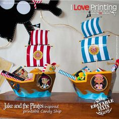 Jake and the Neverland Pirates Ship for Candy box by ILovePrinting