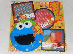 Sesame Street First Birthday Elmo Cookie by kariskraftkorner3301, $9.99