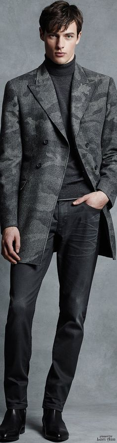 Michael Kors Fall 2015 | Menswear | Men's Fashion | Smart Casual | Men's Gray Outfit | Moda Masculina | Shop at designerclothingfans.com