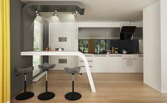 PROIECT CD-1021 « Firmă de construcții case Casa Top, Corner Desk, New Homes, Table, House, Furniture, Home Decor, Projects, Corner Table