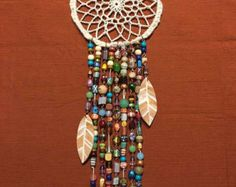 Glass Beaded Wind Chime with Crystals and Bells by LTreatDesigns