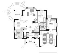 Projekt domu Maja 3 Square House Plans, Modern Bungalow, Construction, Building A House, Floor Plans, How To Plan, Houses, Tiny Houses, Building