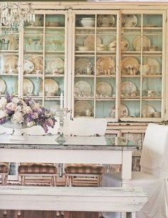 Love the china cabinet!