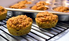 Carrot Quinoa Muffins.  Minimal sugar.  Most of the sweetness is from the applesauce, oj, raisins, and carrots.  Could be a good way to get protein and veggies in Hannah's diet.