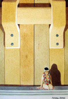 (UK) Wearing a Necklace of Flowers, King Kong by Anthony Browne (1946-   ).