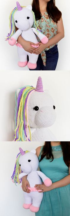 Crochet Pattern - Betsy the Big Unicorn - Amigurumi