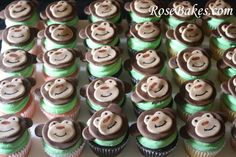monkey cupcake ideas for baby shower   To make these monkey cupcakes, here are the things I used: