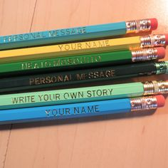 Write Your Own Story, Personalized Pencils, School Events, Foil Stamping, Student Gifts, Holiday Gifts, Custom Pencils, Birthday Cup, Bubble Wrap Envelopes