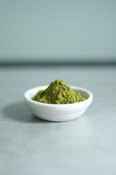 Matcha - powdered green tea. Photo byButter me up Brooklyn