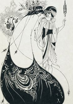 The Peacock skirt by Aubrey Beardsley
