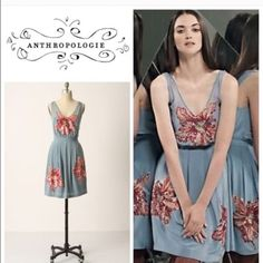 152c1a326d2a Anthropologie Lil Glimmering Magnolia Dress Like new silk dress . Fully  lined Anthropologie Dresses