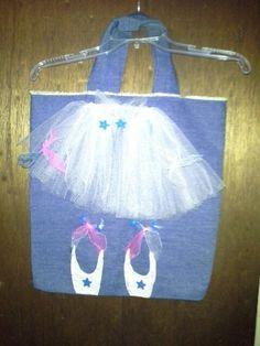Made ballerina bag for grandbaby