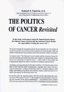 The Politics of Cancer Revisited: Samuel S. Epstein, John, Jr. Conyers, David R. Obey: 9780914896470: Amazon.com: Books