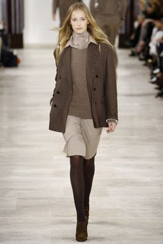 Ralph Lauren Automne 2017, Mode Automne, Automne Hiver, Robe Pull, Jupe, 513343a8569