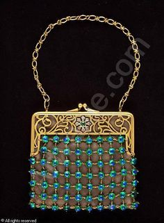 Attributed to LC Tiffany: Art Nouveau purse