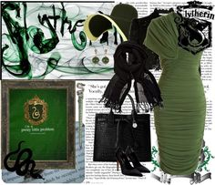 """""""Slytherin House"""" by cycleseason on Polyvore"""