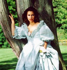 Maria Teresa looks like a fairy tale Princess in this old photo taken at the grounds of Fischbach Castle, Luxembourg.