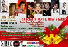 Photohunt Special X-mas & New Year Senin, 22 Desember 2014 At Special Stage Coffee and Eatery – Surabaya 19.00 – Selesai  HTM : Rp 20.000 - Free Voucher - Limited for 25FG  http://eventsurabaya.net/photohunt-special-x-mas-new-year/