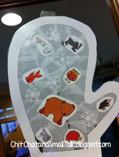 Chit Chat and Small Talk: Mitten Craftivity for Preschoolers. Pinned by SOS Inc. Resources http://pinterest.com/sostherapy.