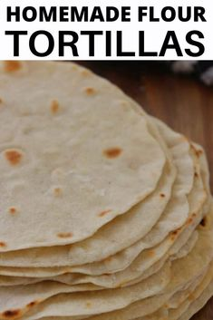 Homemade Tortillas, make your own tortillas using flour, salt, baking powder, water and oil. SO easy and so inexpensive too. How To Make Flour, How To Make Tortillas, Food To Make, Making Tortillas, Recipes With Flour Tortillas, Homemade Flour Tortillas, Flour Tortilla Recipe With Oil, Mexican Tortilla Recipe, Easy Tortilla Recipe
