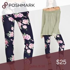 💝 Ankle floral pants Feminine floral print ankle pants have a super sleek look - polyester/spandex -price is firm unless bundled.                               Small waist 26 Medium 28 Large - 30 XLarge - 32 Boutique Pants Ankle & Cropped