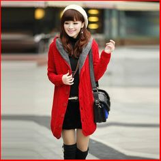 2014 new big yards leisure contracted joker in long loose warm female add more wool cardigan sweater coat