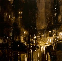 """""""Composition 138"""" - Oil on Panel - 36 x 36 inches.  Jeremy Mann"""