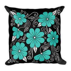Decorative Pillow - Pillow - Pillow Cover - Throw Pillow - Accent Pillow - Flowers Pillow